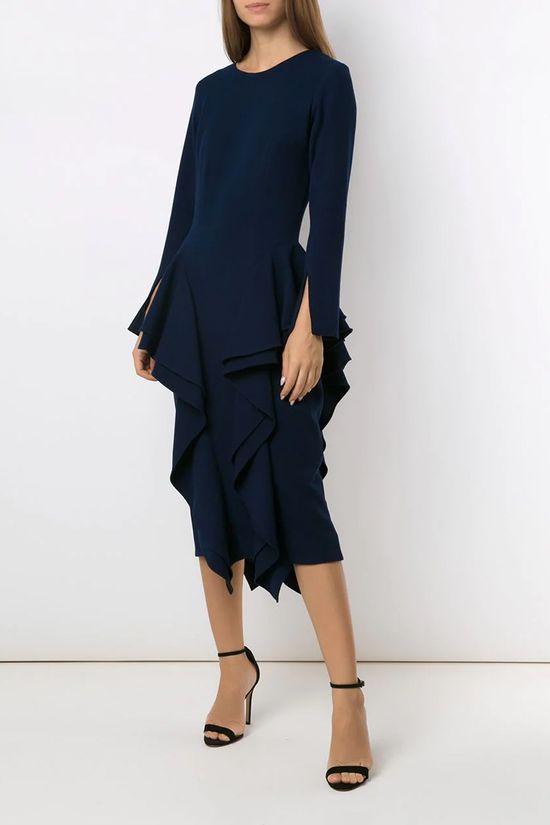 Vestido-Midi-Chipre-Marinho