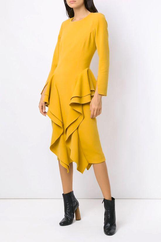 Vestido-Midi-Chipre-Mostarda